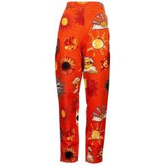 Vintage MOSCHINO JEANS Summer Sun Fun Print Pants