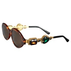 Vintage MOSCHINO Jeweled Tortoiseshell Sunglasses