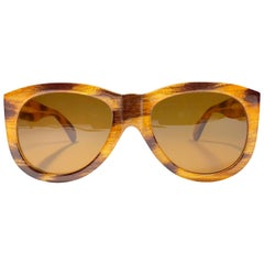 Vintage Moschino M252 By Persol Blond Oversized Sunglasses, 1990