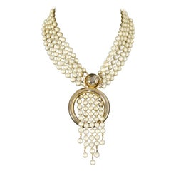 """Vintage MOSCHINO """"Marry Me"""" Multi Strand Pearl Necklace"""