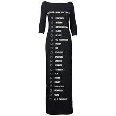 Vintage MOSCHINO Millenium Mood Checklist Maxi Dress