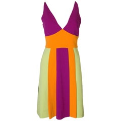 Vintage Moschino Runway Crepe Dress