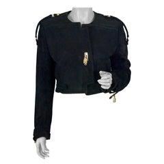 Vintage MOSCHINO Suede Novelty Padlock Jacket