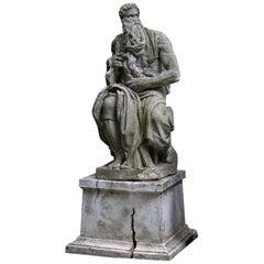Vintage Moses Garden Statue