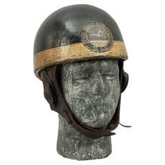 Vintage Motorcycling Crash Helmet, Great Yarmouth Seagull MCC