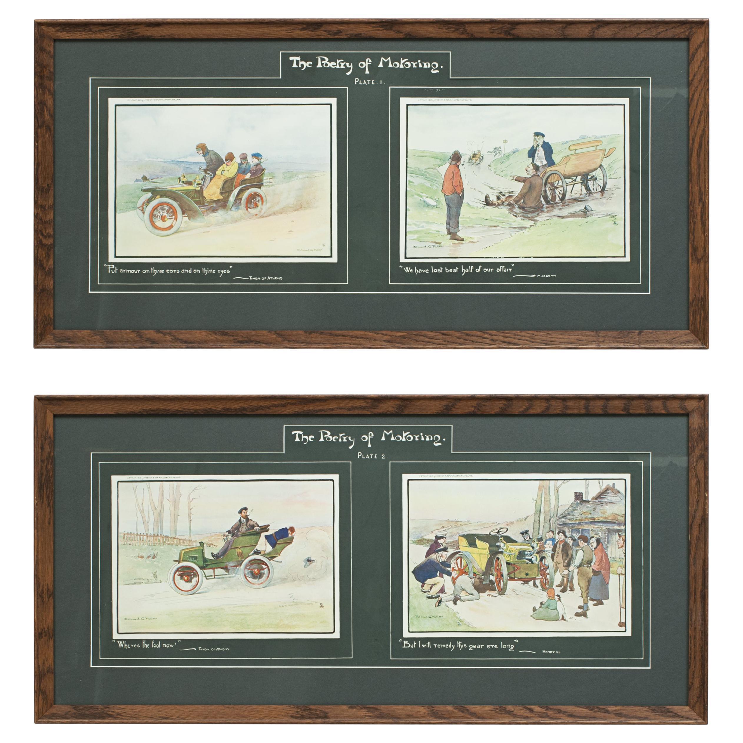 Vintage Motoring Prints, Poetry of Motoring, by Edmund G. Fuller
