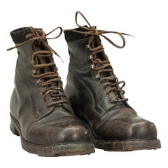 Vintage Mountaineering Boots in Leather