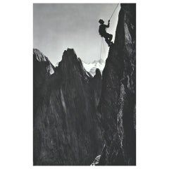 Vintage Mountaineering Photograph, Climber, SImmelstock