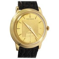 Vintage Movado Kingmatic Yellow Gold Automatic Wristwatch