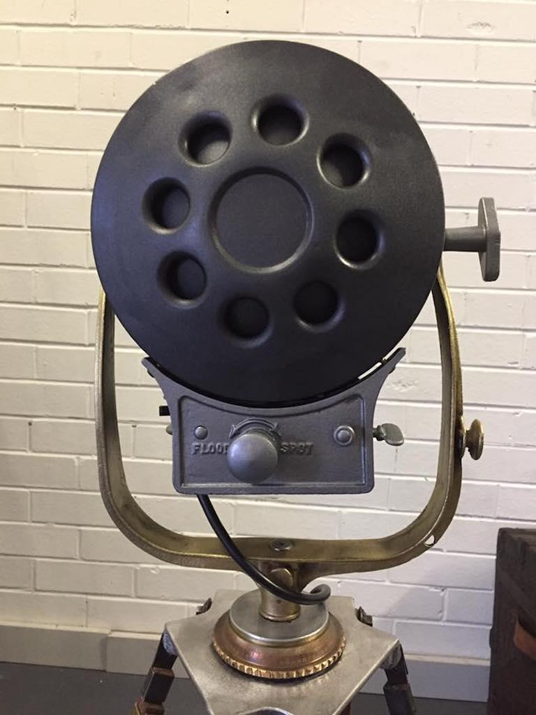 Vintage Movie Light Floor Lamp Industrial Spotlight On