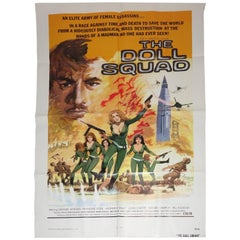 "Vintage Movie Poster, Cult 'B' Movie ""The Doll Squad"", circa 1973, New Old Stock"