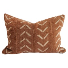 Vintage Mudcloth Lumbar Pillow with Down Insert