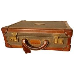 Vintage Mulberry Scotch-grain Attache Case, Briefcase or Small Suitcase