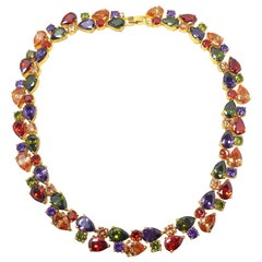 Vintage Multi-Color 1970s Crystal Necklace