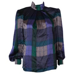 Vintage  Multicolour Silk Blouse by Donald Campbell