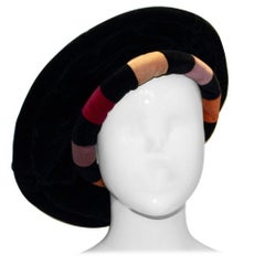 Vintage MultiColour Velvet Hat