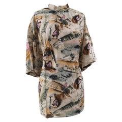 Vintage multicoloured silk shirt