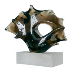 Vintage Murano Glass Abstract Sculpture