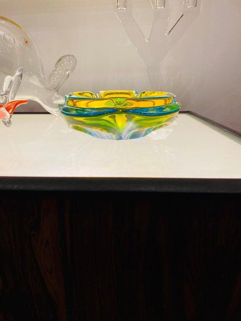 Vintage Murano Glass Ashtray Centerpiece 'Italian' For Sale 4