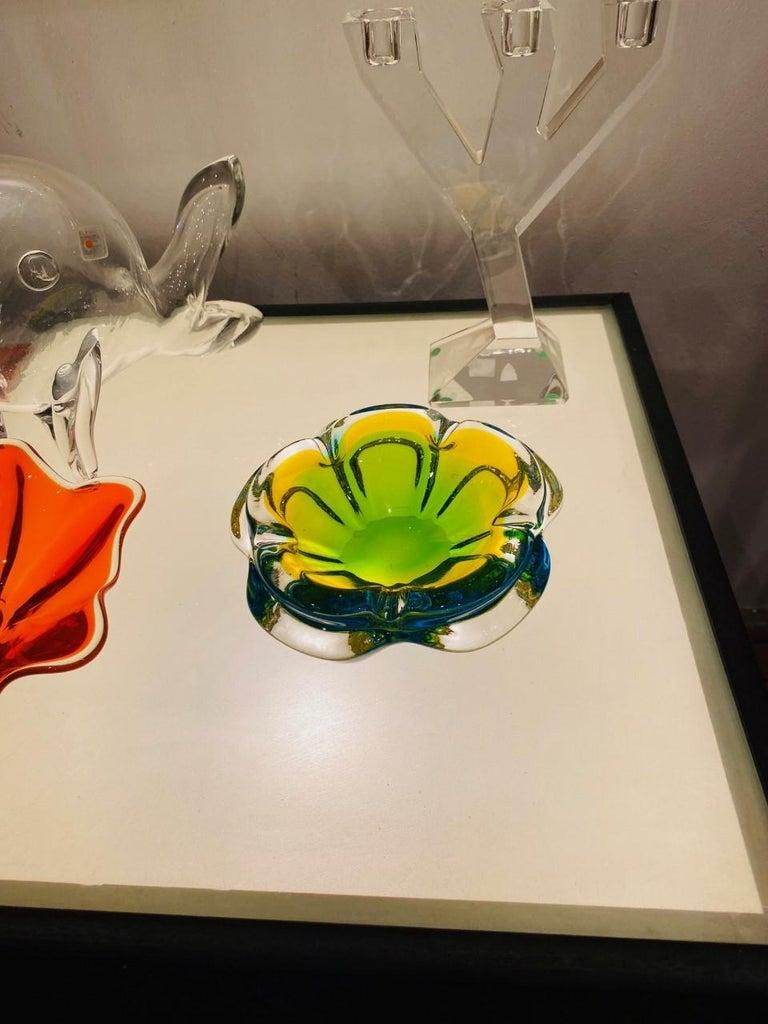 Vintage Murano Glass Ashtray Centerpiece 'Italian' For Sale 3