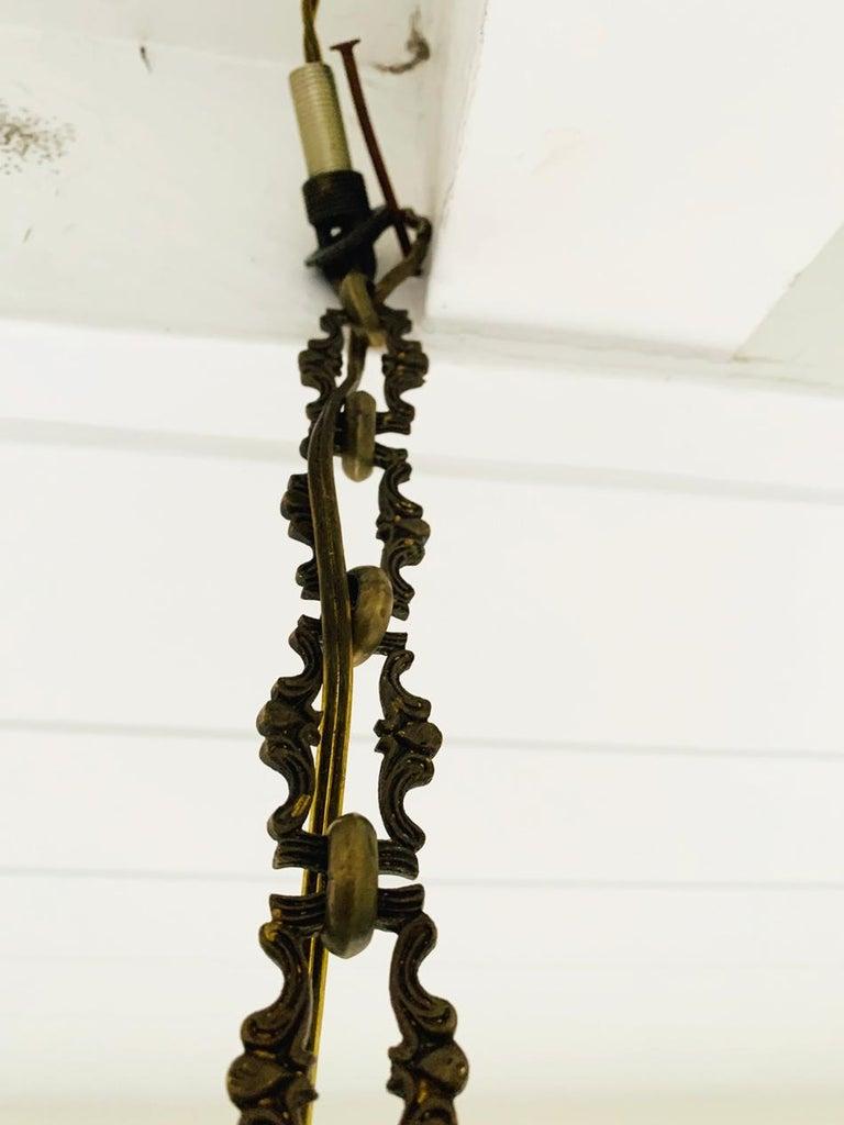 Vintage Murano Glass and Brass Pendant Light 6