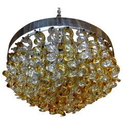Vintage Murano Glass Chandelier by Mazzega