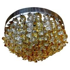 Vintage Murano Glass Chandelier by Mazzega