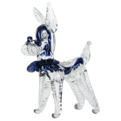 Vintage Murano Glass Dog, 1980s
