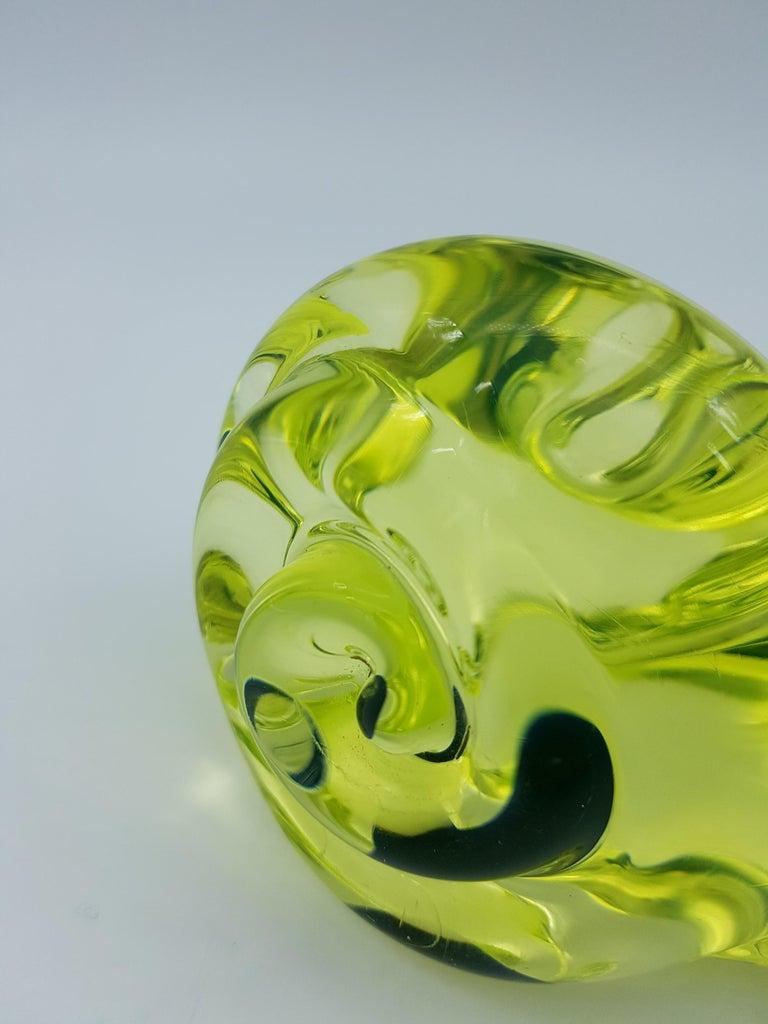 Vintage Murano Glass Snail with Blue Bubble, Gino Cenedese E Figlio, Da Ros 1960 For Sale 6