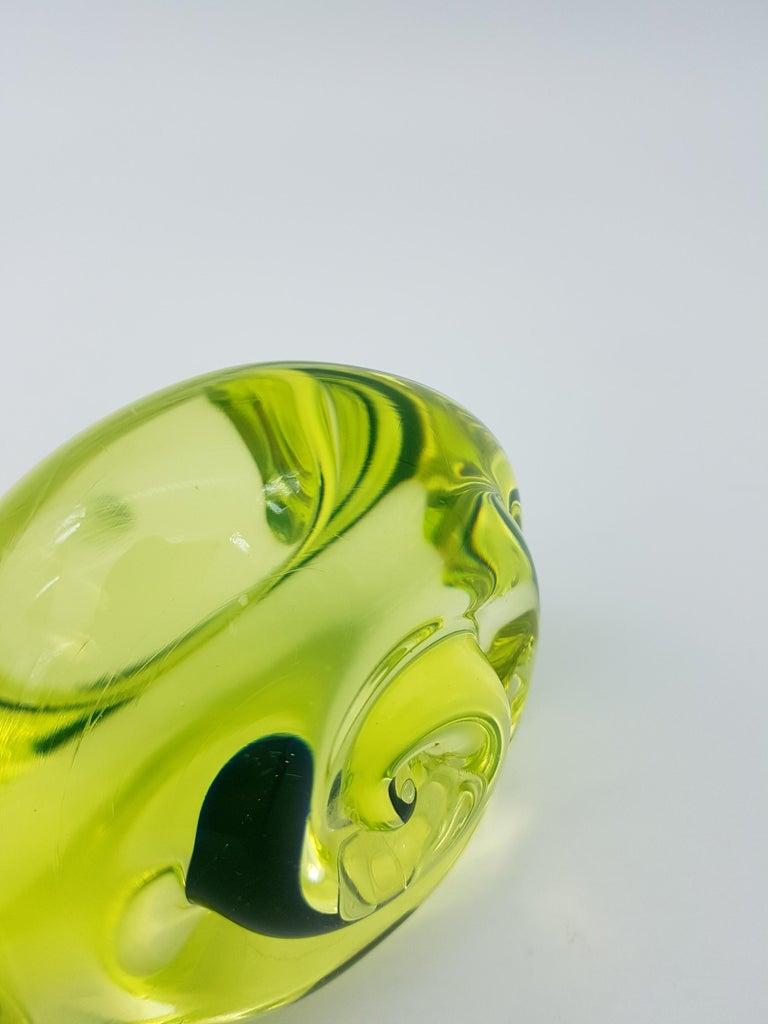 Vintage Murano Glass Snail with Blue Bubble, Gino Cenedese E Figlio, Da Ros 1960 For Sale 7