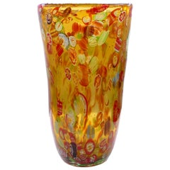 Vintage Murano Glass Vase, Early 1980