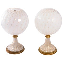 Vintage Murano Lamps Midcentury