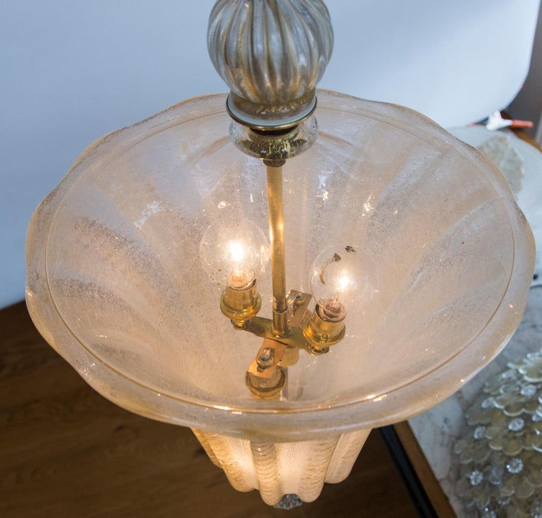 Vintage Murano Lantern by Ercole Barovier In Good Condition For Sale In Westport, CT