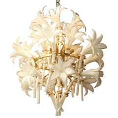 Vintage Murano Lilly Chandelier by Franco Luce