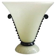 Vintage Murano Pulegoso Glass Vase, 1930s