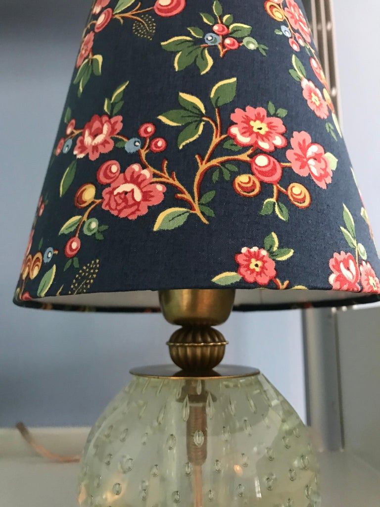 Vintage Murano Table Lamp with Customised Shade, Italy, 1950 In Good Condition For Sale In Copenhagen K, DK