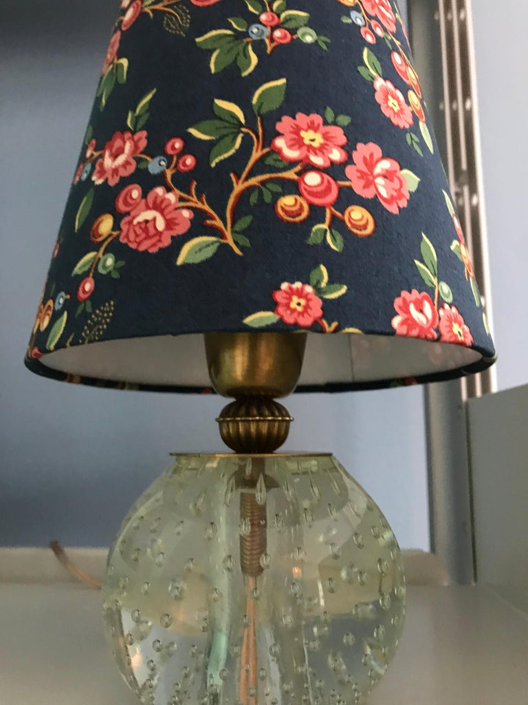 Vintage Murano Table Lamp with Customised Shade, Italy, 1950 For Sale 1
