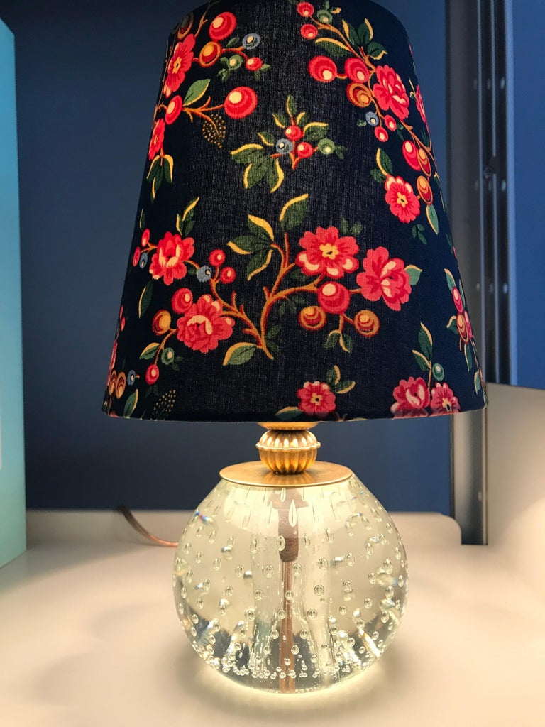 Vintage Murano Table Lamp with Customised Shade, Italy, 1950 For Sale 2