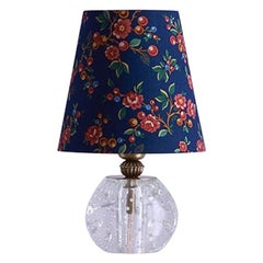 Vintage Murano Table Lamp with Customised Shade, Italy, 1950