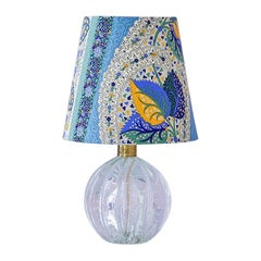 Vintage Murano Table Lamp with Customized Shade, Italy, 1950's