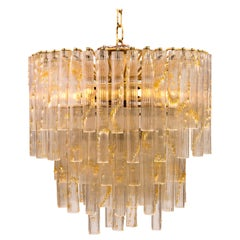 Vintage Murano Tube Glass Chandelier