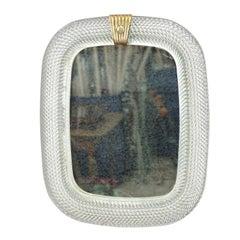 Vintage Murano Vanity Mirror by Barovier & Toso 'Attr' Ca. 1940