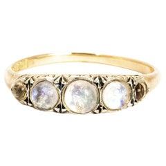 Vintage Murrle Bennett & Co Moonstone and 9 Carat Gold Ring