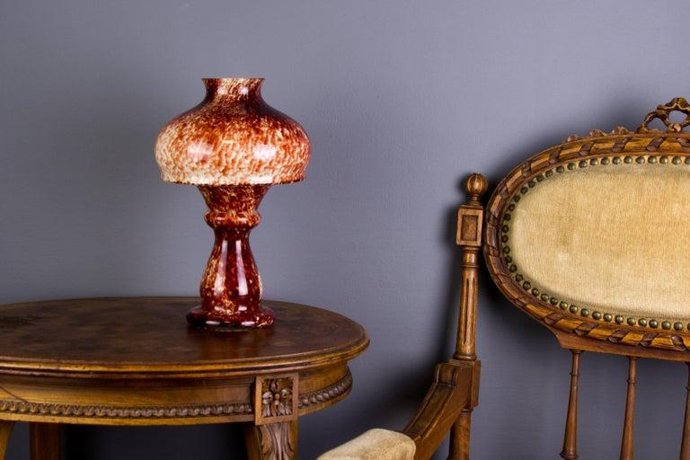 Vintage Mushroom-Shaped Red Art Glass Tea Light Holder or Candle Lamp or Vase For Sale 4