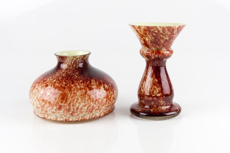 Vintage Mushroom-Shaped Red Art Glass Tea Light Holder or Candle Lamp or Vase For Sale 6