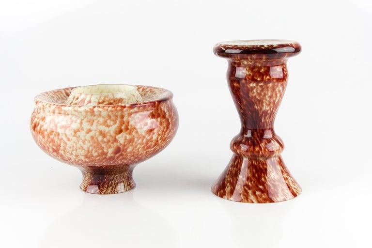 Vintage Mushroom-Shaped Red Art Glass Tea Light Holder or Candle Lamp or Vase For Sale 7