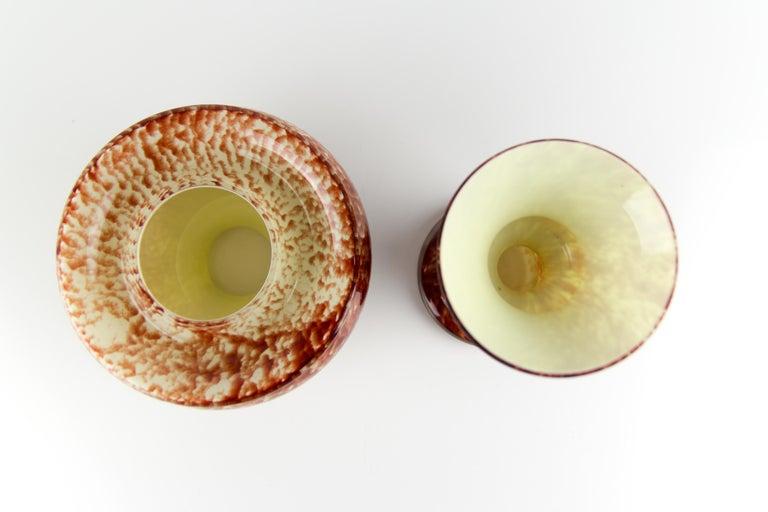 Vintage Mushroom-Shaped Red Art Glass Tea Light Holder or Candle Lamp or Vase For Sale 9