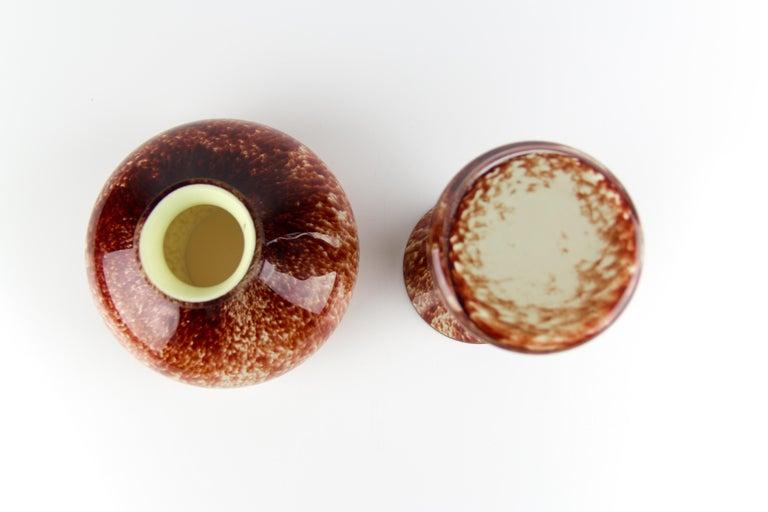 Vintage Mushroom-Shaped Red Art Glass Tea Light Holder or Candle Lamp or Vase For Sale 10