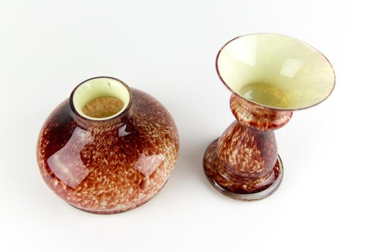 Vintage Mushroom-Shaped Red Art Glass Tea Light Holder or Candle Lamp or Vase For Sale 11