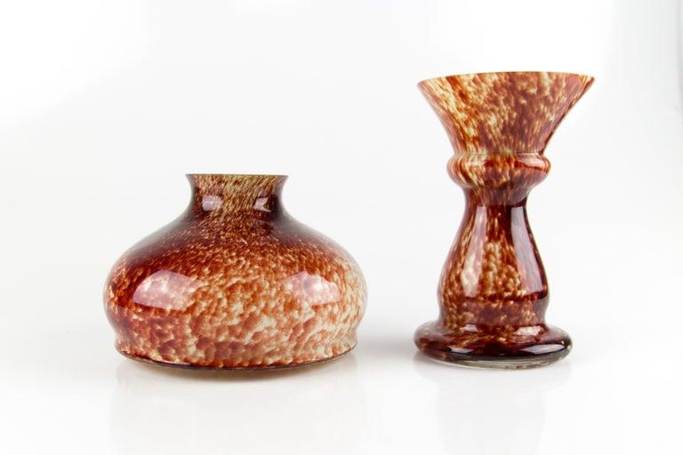 Vintage Mushroom-Shaped Red Art Glass Tea Light Holder or Candle Lamp or Vase For Sale 12